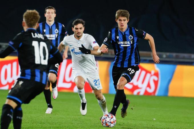 Charles De Ketelaere scoorde zowel in Rusland als in Brugge tegen Zenit.©BRUNO FAHY Belga
