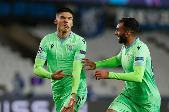Joaquin Correa scoorde tegen Club Brugge in het Jan Breydelstadion. Wil blauw-zwart iets rapen in Rome, dan zal het onder meer de Argentijn moeten kunnen afstoppen.©BRUNO FAHY BELGA