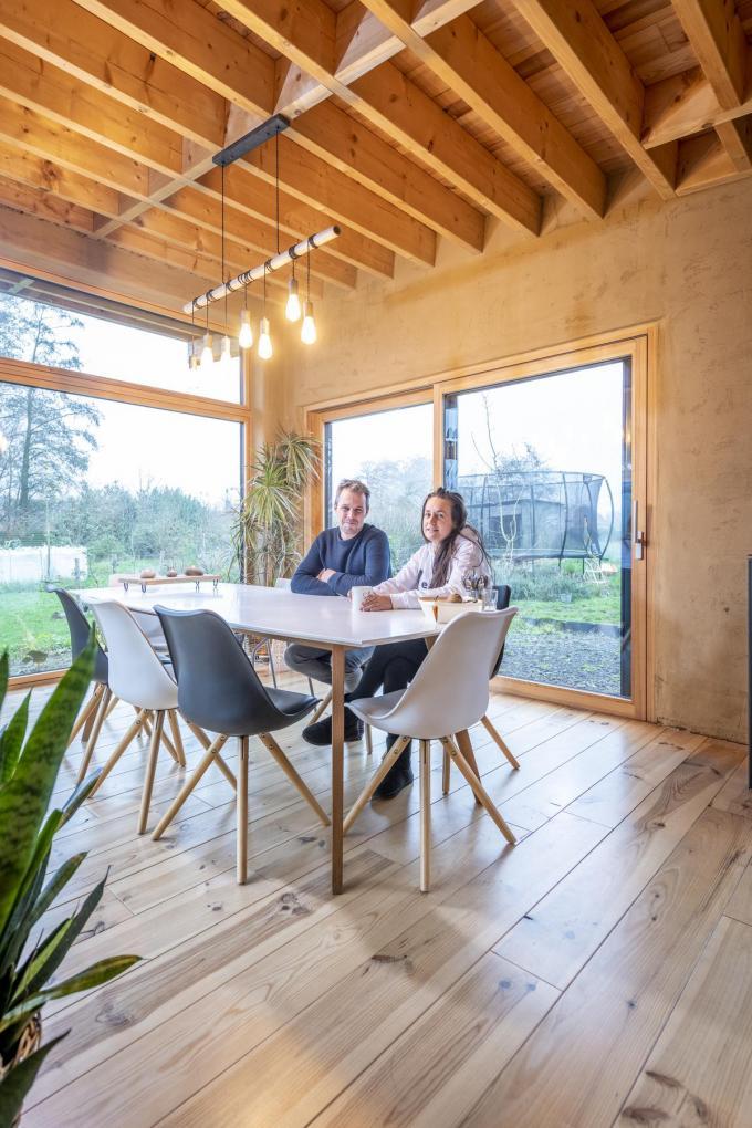 Op termijn wil het koppel een groene long aan huis bouwen dat extra gezonde lucht naar binnen brengt. (Foto Pieter Clicteur)©Pieter Clicteur;Pieter Clicteur