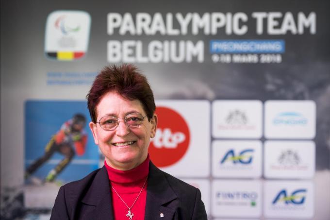 Sinds 2009 is Anne d'Ieteren voorzitter van het Belgian Paralympic Committee en de Ligue Handisport Francophone.©JASPER JACOBS BELGA