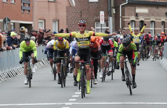 Enzo Wouters won op 1 maart de 72ste editie van Gent-Staden.©VDB / Bart Vandenbroucke VDB