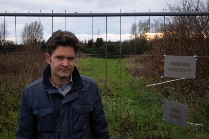 Provincieraadslid Maarten Tavernier is heel tevreden met de aankoop van klein Bergelen, hoewel daar nog een gunstig bodemattest moet verleend worden.© Stefaan Lernout