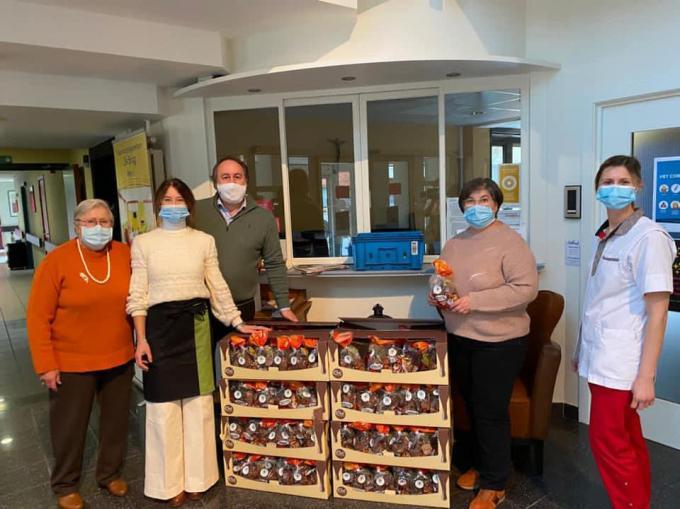 In woon- en zorgcentrum Mater Amabilis waren ze erg tevreden.© gf