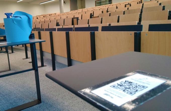 De aula's bleven de afgelopen weken leeg.© AN
