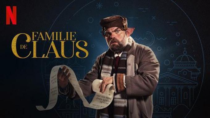 Ook Stefaan Degand duikt op in 'De Familie Claus'. (Foto Netflix)