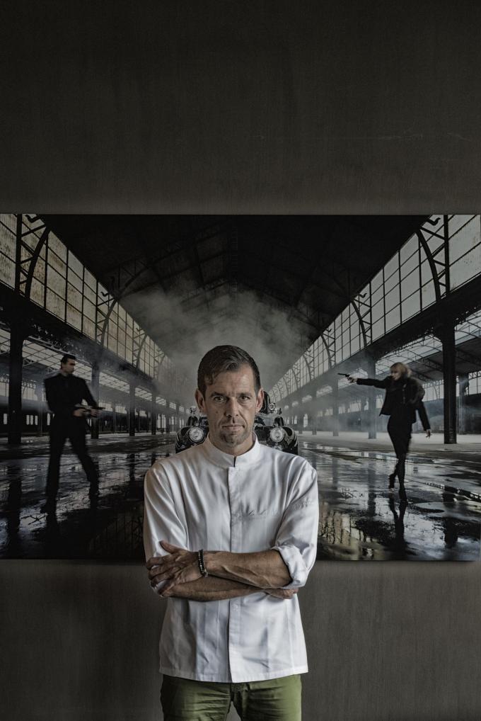 Chef Angelo Rosseel biedt 'La Durée to go' aan. (Foto Westtoer)