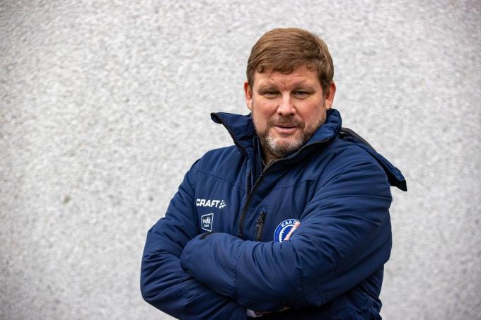 Hein Vanhaezebrouck is de nieuwe coach van AA Gent.©KURT DESPLENTER BELGA