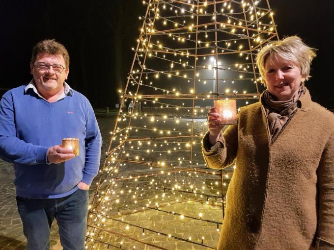 Serge Demeyere en Anne Waelkens willen mee het licht verspreiden.© GV
