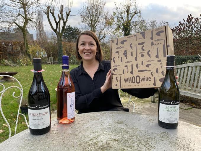Lucia Buysschaert wil het WHOOwine duurzame wijnen in de Vlaamse huiskalmer brengen. (foto DRD)