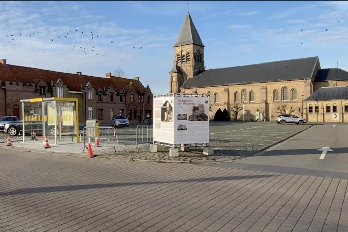 Geluveldplaats, zo heet het marktplein van Geluveld nu nog.© KVdm