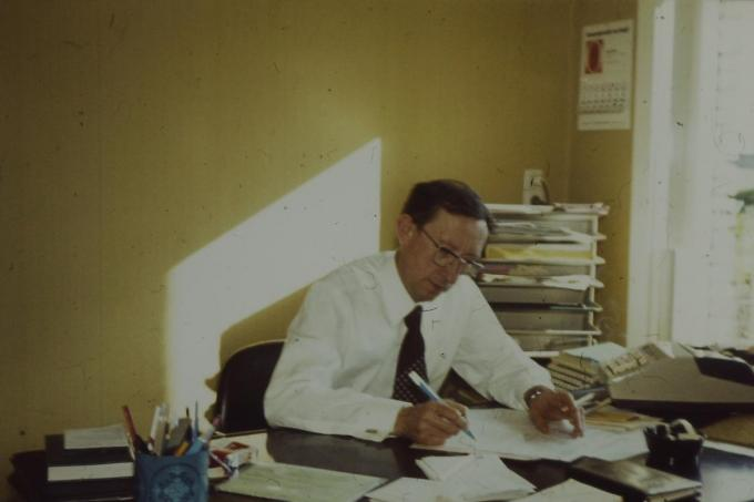 Roger Roels zoals generaties Ardooienaren hem gekend hebben.© JM