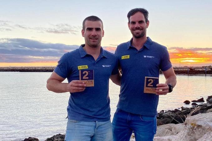 Yannick Lefèbvre werd met zijn kompaan Tom Pelsmaekers tweede op de Vilamoura Sailing Grand Prix.© foto Facebook