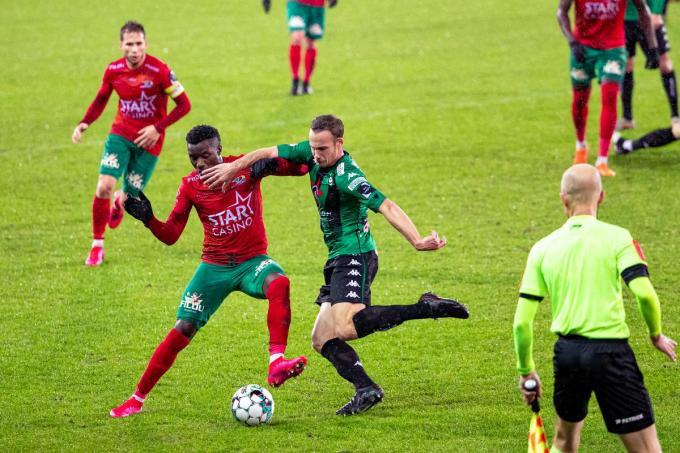 Cercle kon niet winnen tegen Oostende en moet nu bij Charleroi de drie punten zoeken.©KURT DESPLENTER BELGA