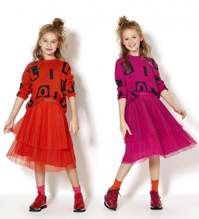 Kleurige outfits voor kleine prinsessen, van Liu Jo Junior.© Liu Jo Junior