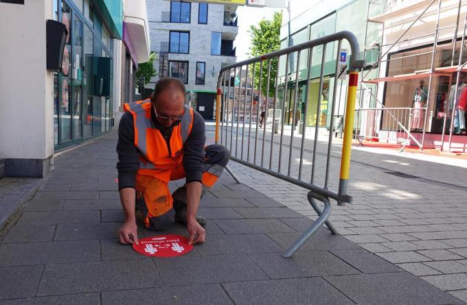 Stad Kortrijk nam alvast de nodige maatregelen.© AN