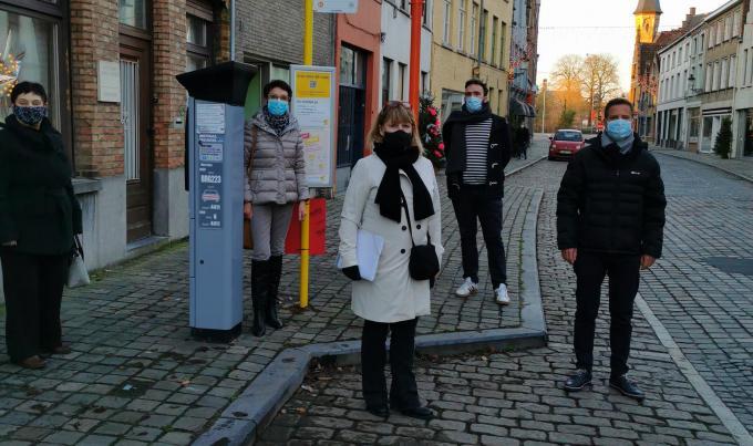 De actievoerders van CD&V Brugge binnenstad. (foto gf)