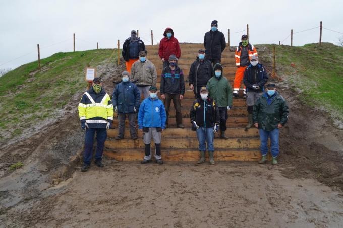 De ploeg parcoursbouwers. (foto Luc)