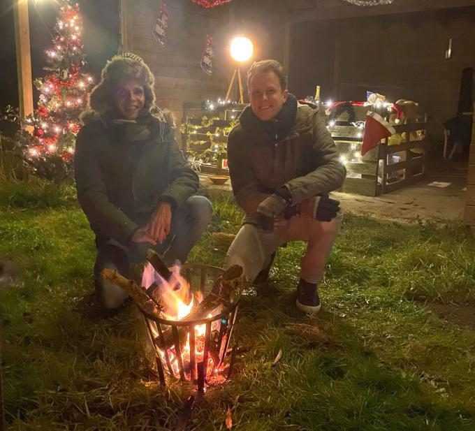 Pieterjan (links) en Jens van BlitZ in de kerstsfeer.© PADI/PJ