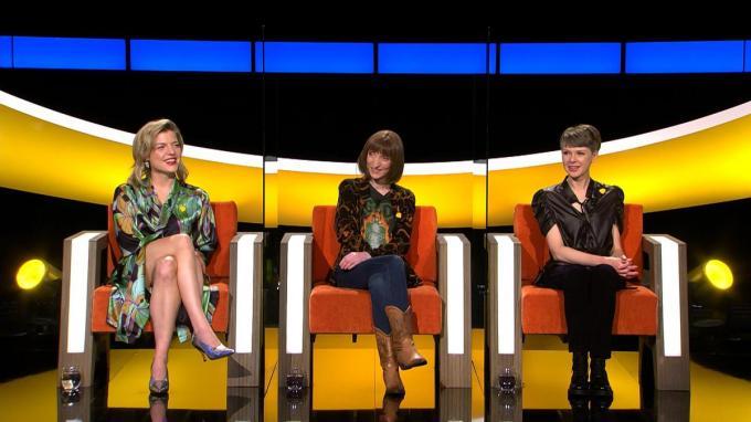 Ella Leyers, Delphine Lecompte en Catherine Van Eylen zorgden voor een sterke finale. (Foto Vier)