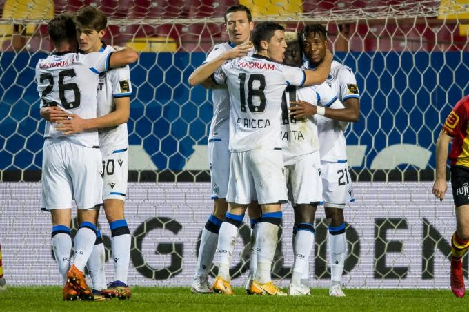 Club won met 0-3 tegen Mechelen.©JASPER JACOBS BELGA