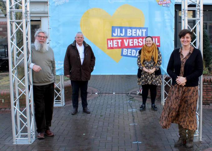 Schepen Herman Ponnet, burgemeester Eddy Lust, schepen Virginie Breyne en schepen Griet Vanryckegem.©wilfried Ossieur WO