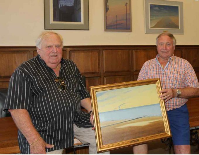 De schilderijen zijn een schenking van Danny en Etienne Van Audenaerde.©WK foto WK