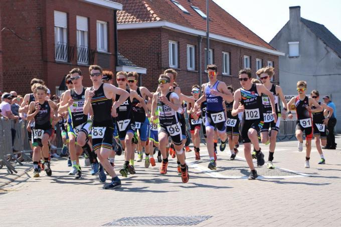 De triatlon van Ruddervoorde.© foto AC