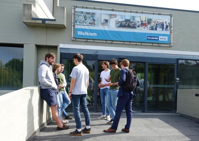 Archiefbeeld - KU Leuven campus Kulak Kortrijk kent voor het tweede jaar op rij een sterke stijging.© AN