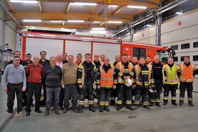 De brandweer van Zonnebeke in het arsenaal op een promodag voor het coronajaar 2020.©zenon bekaert beselare ZB