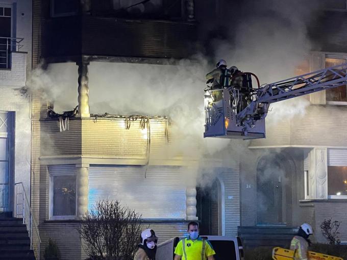 De brand ontstond op de eerste verdieping.© JVM