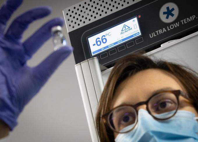 Kortrijk kan beginnen vaccineren vanaf 4 januari. (foto Belga)©BENOIT DOPPAGNE BELGA