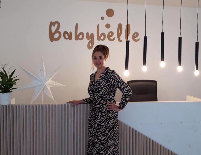 Emelie Vermoote in haar babywellness.© gf