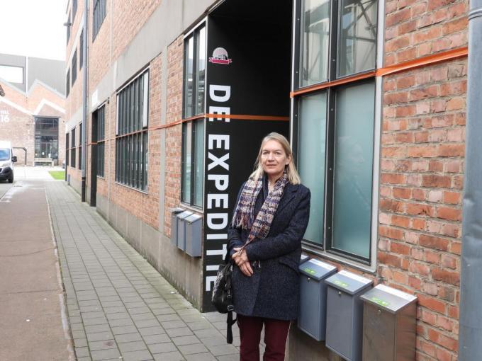 Katrien Vandenberghe, weer in Gent, na haar verblijf in het Huis van de Dichter. (foto JG)