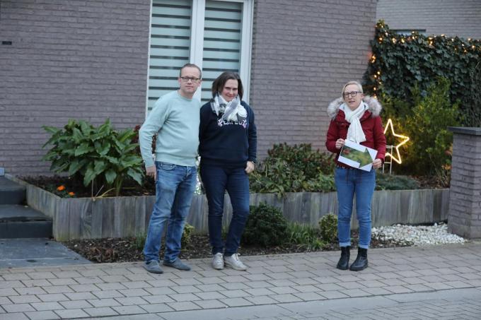 Wijkcomité Interlin met v.l.n.r. Sammy Declerck, Fabienne Cloet en Tine Beernaert. (foto EL)©ELD