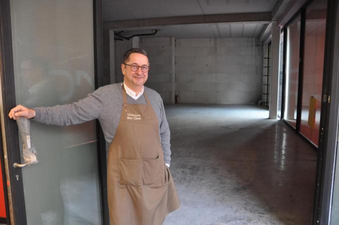 De winkel is nu nog een werf, maar Carl Veys heeft er vertrouwen in dat alles tijdig klaar raakt.© PNW