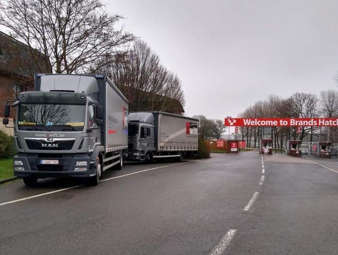 Vrachtwagenchauffeur Krist en zijn collega's zitten voorlopig vast in Dover.© CL