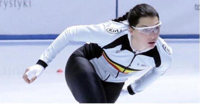 Stien Vanhoutte vestigde een nieuw record op de 500 meter.©Kw Webredactie2