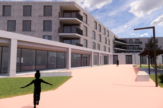 Een visualisatie van hoe het nieuwe woonzorgcentrum er zal uitzien. (Beeld Woonzorggroep GVO)