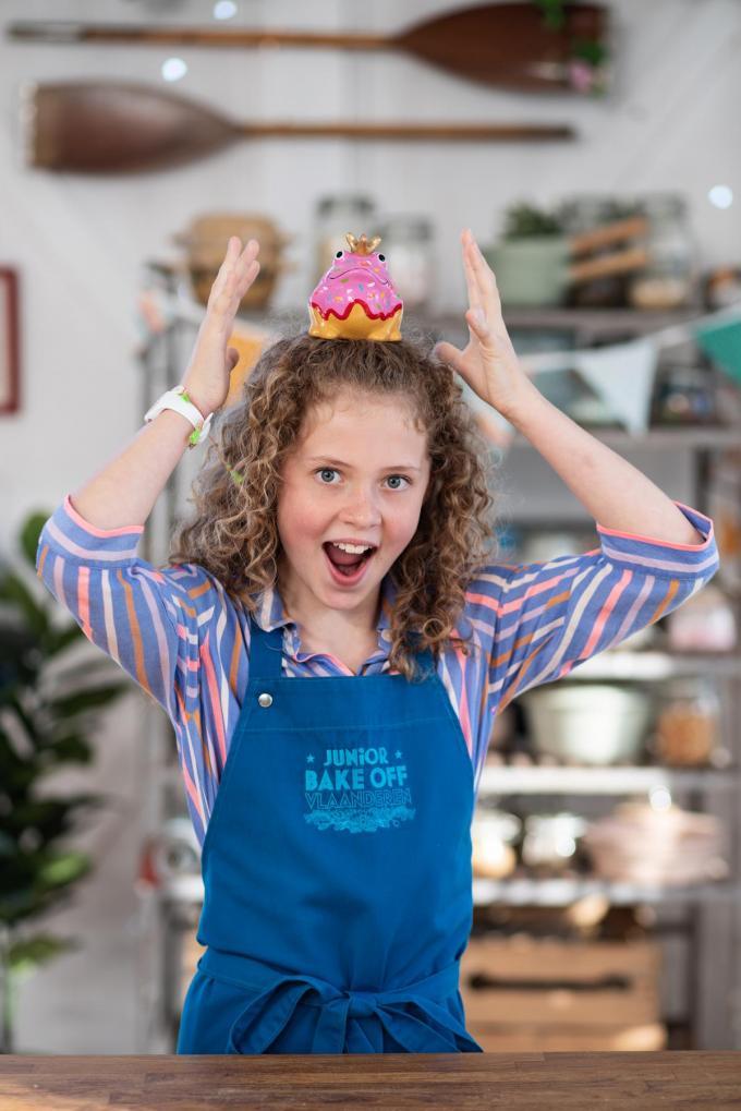 De dolenthousiaste Cato Isselée is vanaf woensdag te zien in Junior Bake Off Vlaanderen. (foto Vier)©greetje van buggenhout