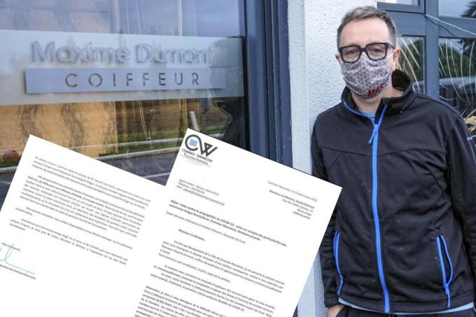 Kapper Maxime Dumont startte een petitie.© CLL