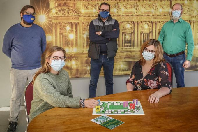 Joke Van Winghem, Joyce en Domien Durnez, Stefan Cardoen en Kris Coorman.© Jan Stragier