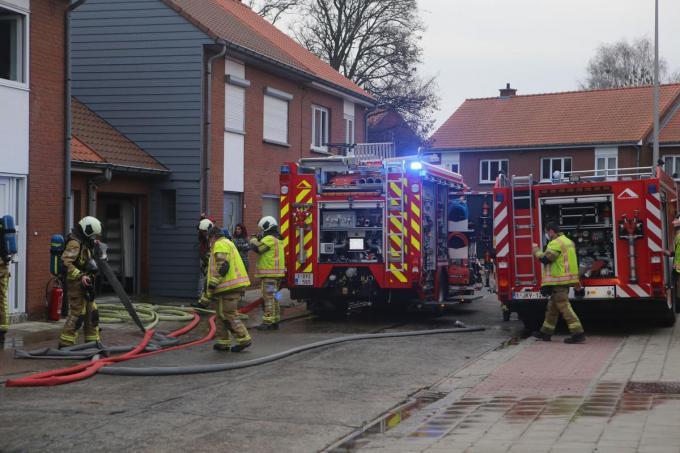 De schade bleef door de snelle tussenkomst van de brandweer beperkt.© foto NDZ