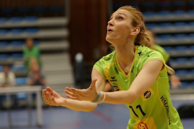De jarige Milica Misojcic kreeg geen overwinning als verjaardagsgeschenk tegen haar ex-team, Saturnus Michelbeke.©VDB / Bart Vandenbroucke VDB