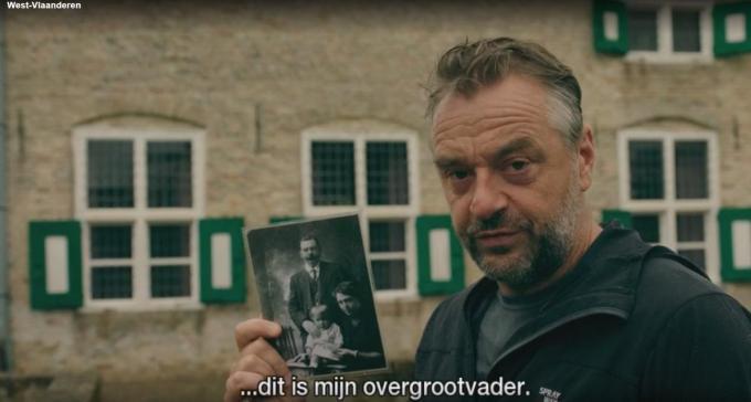 De overgrootvader van Tom Waes verdronk in 1918 in de Lovaart.© vrt