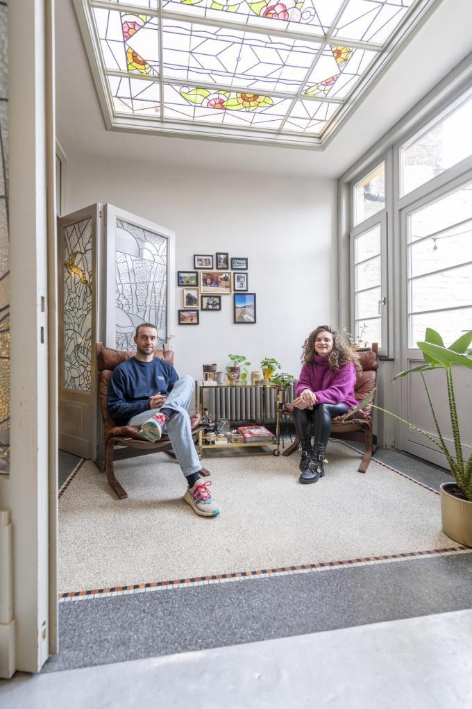 Seppe en Chloé waakten erover dat het karakter van hun art-decowoning behouden bleef.©Pieter Clicteur;Pieter Clicteur Pieter Clicteur