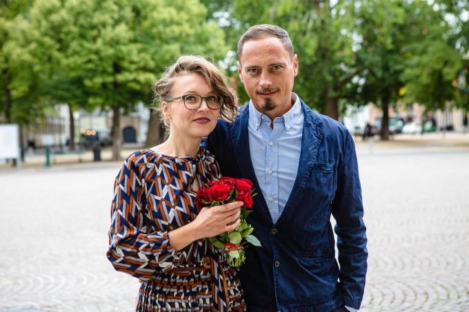 Roxana-Gina Capatina en Lucian Ciubotaru huwden in september in het stadhuis van Brugge. (Foto Davy Coghe)©Davy Coghe Davy Coghe
