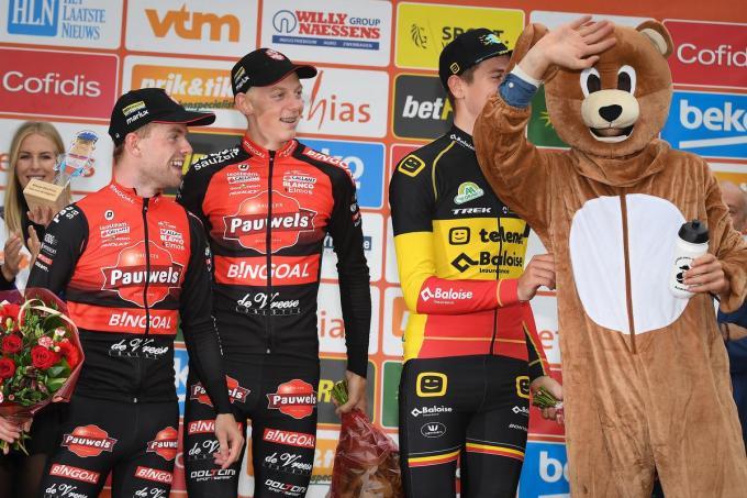Vorig jaar was Michaël Vanthourenhout tijdens de Berencross de beste in Meulebeke. Een massa volk langs het parcours zullen we dit jaar jammer genoeg niet zien.©DAVID STOCKMAN BELGA