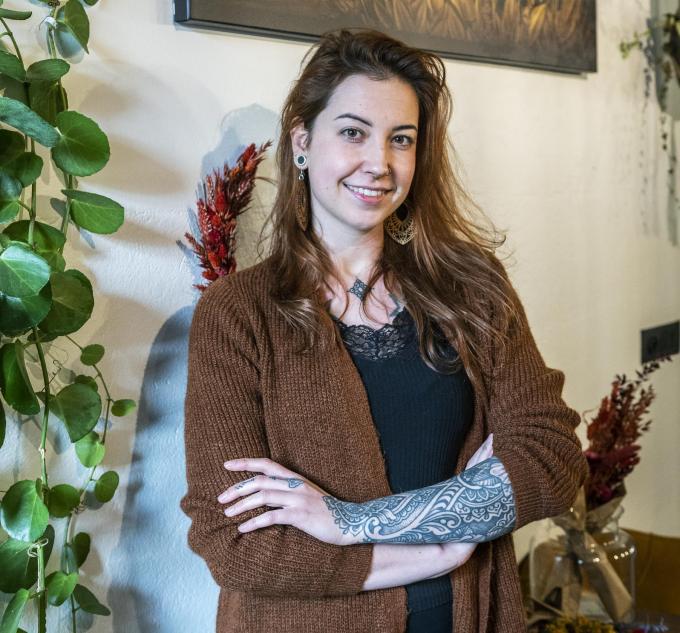 """Ines Gevaert: """"Op mijn vijftiende kwam ik voor het eerst met tatoeages in contact."""" (foto SB)©STEFAAN BEEL Stefaan Beel"""