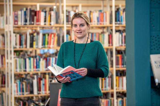 Ellen Allegaert ruilde Spermalie voor de bibliotheek. (foto Frank)©Frank Meurisse Frank Meurisse