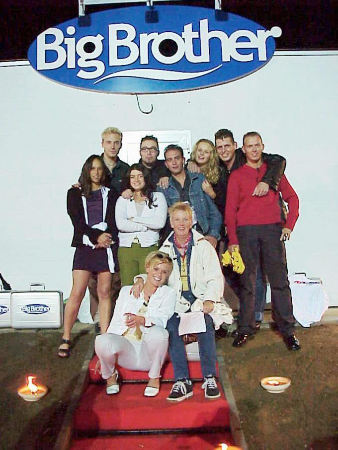 De eerste generatie Big Brother-deelnemers, met onder andere Spillie en Betty.© VTM